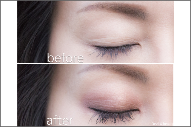 before-after-etvos-mineral-eyecolor-palette-cassis-brown3 - image